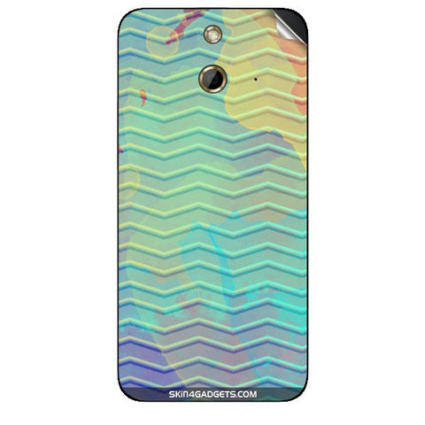 Colourful Waves For HTC ONE E8 Skin