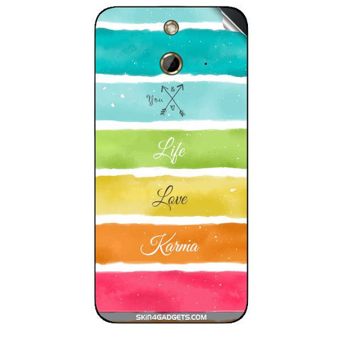 Lets Love Life For HTC ONE E8 Skin