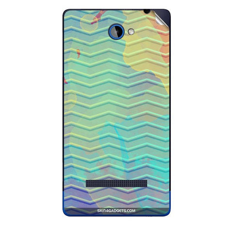 Colourful Waves For HTC A620E Skin