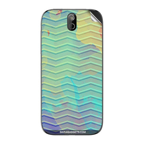 Colourful Waves For HTC 608T Skin