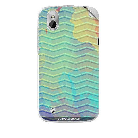 Colourful Waves For HTC T327W Skin