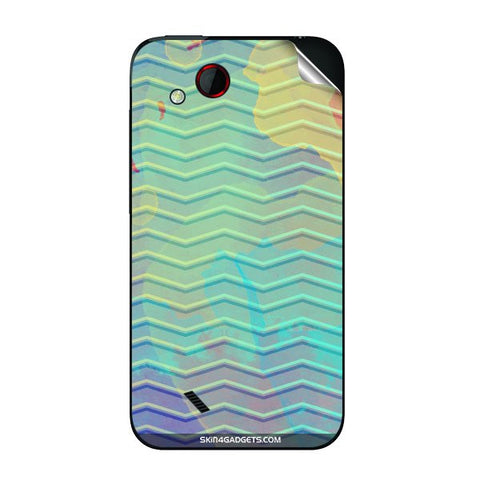 Colourful Waves For HTC T328D Skin