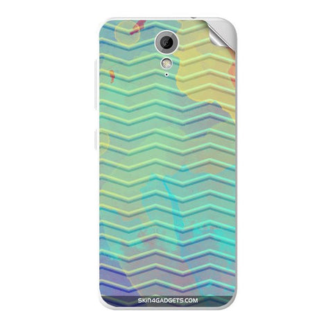 Colourful Waves For HTC DESIRE 620G Skin