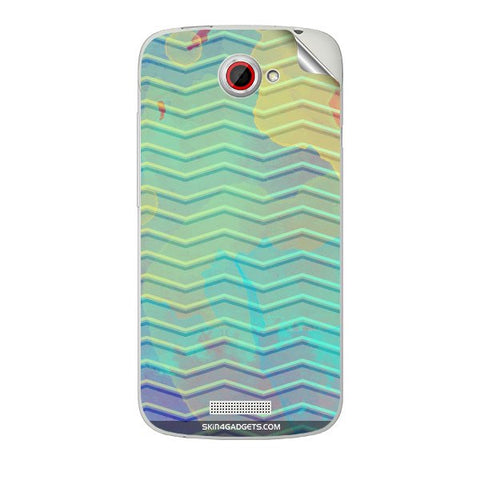 Colourful Waves For HTC ONE S Skin