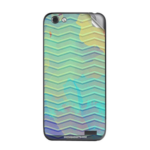 Colourful Waves For HTC ONE V Skin