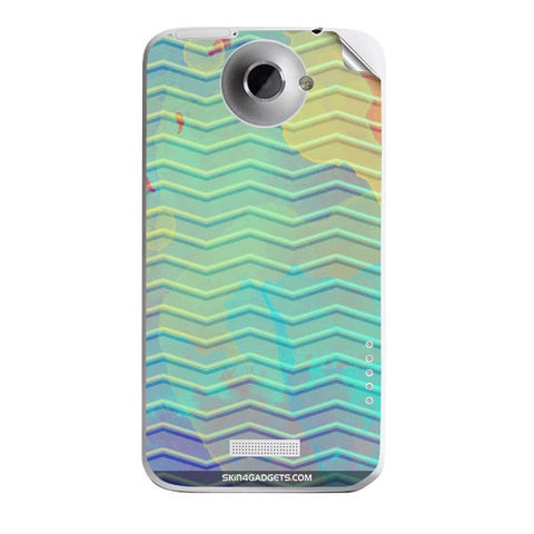 Colourful Waves For HTC ONE X Skin