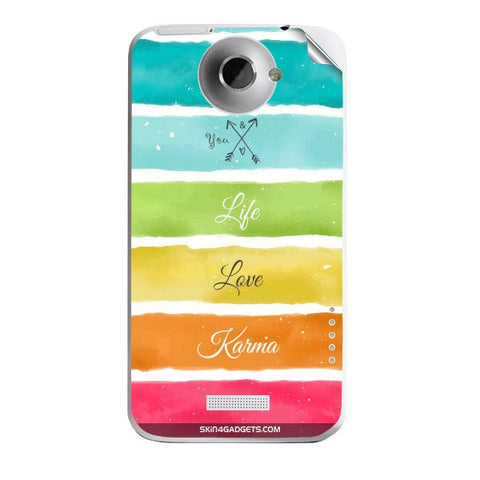 Lets Love Life For HTC ONE X Skin