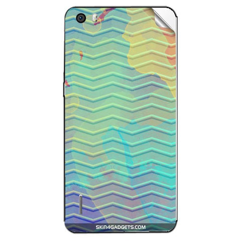 Colourful Waves For HUAWEI HONOR 6 Skin