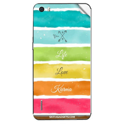 Lets Love Life For HUAWEI HONOR 6 Skin