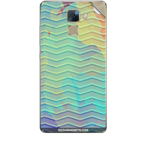 Colourful Waves For HUAWEI HONOR 7 Skin