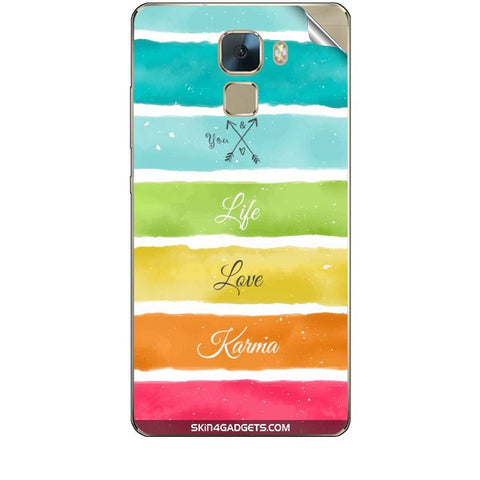 Lets Love Life For HUAWEI HONOR 7 Skin