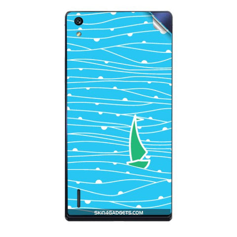 Boat Pattern For HUAWEI HONOR P7 Skin