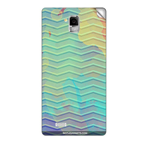 Colourful Waves For INTEX AQUA I5 MINI Skin