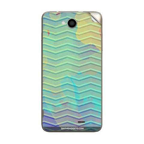 Colourful Waves For INTEX AQUA-LIFE-III Skin
