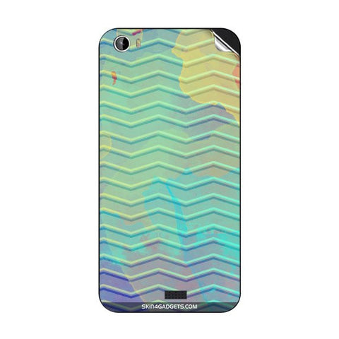 Colourful Waves For INTEX AQUA TURBO 4G Skin