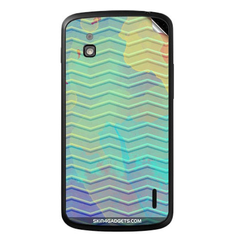 Colourful Waves For LG NEXUS 4 Skin