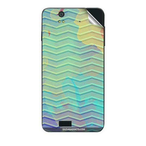 Colourful Waves For LAVA IRIS X5 Skin