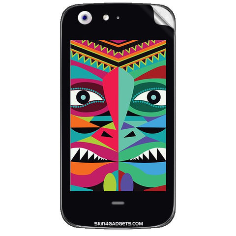 Tribal Face For MICROMAX CANVAS 4 (A210) Skin