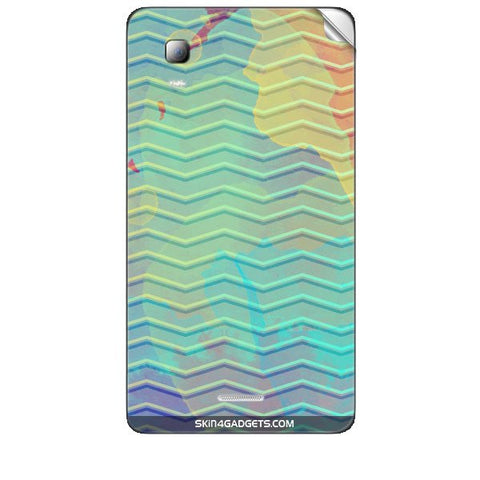 Colourful Waves For MICROMAX CANVAS DOODLE3 (A102 ) Skin