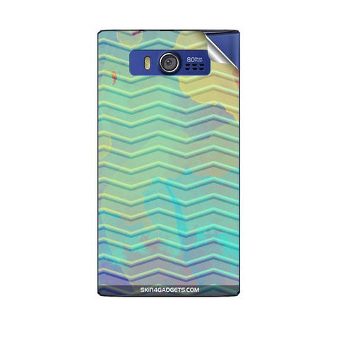 Colourful Waves For MICROMAX A075 Skin