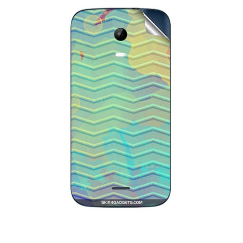 Colourful Waves For MICROMAX A200 Skin