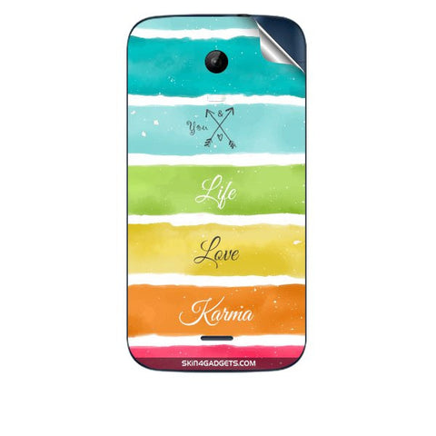 Lets Love Life For MICROMAX A200 Skin