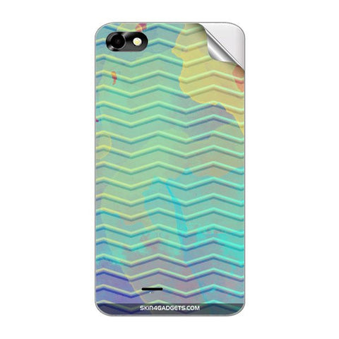 Colourful Waves For MICROMAX A069 Skin