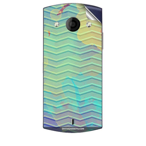 Colourful Waves For MICROMAX A255 CANVAS SELFIE Skin