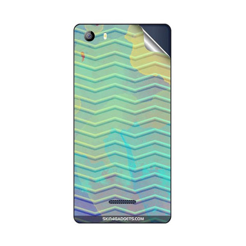 Colourful Waves For MICROMAX E481 CANVAS 5 Skin