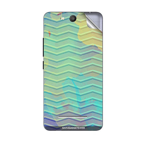 Colourful Waves For MICROMAX Q392 CANVAS JUICE 3 Skin
