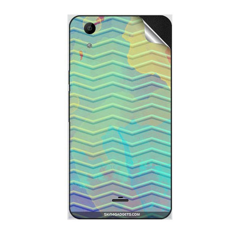 Colourful Waves For MICROMAX Q345 CANVAS SELFIE LENS Skin