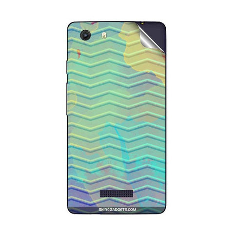 Colourful Waves For MICROMAX Q372 UNITE 3 Skin