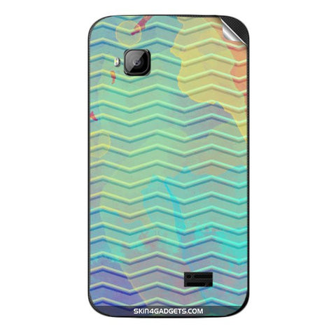Colourful Waves For MICROMAX S300 Skin