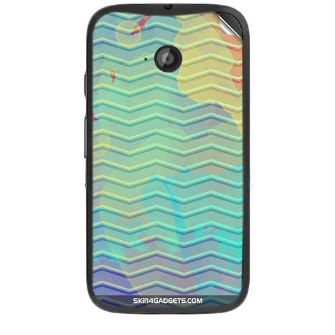 Colourful Waves For MOTOROLA MOTO E2 Skin