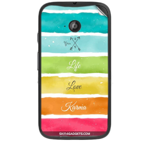 Lets Love Life For MOTOROLA MOTO E2 Skin