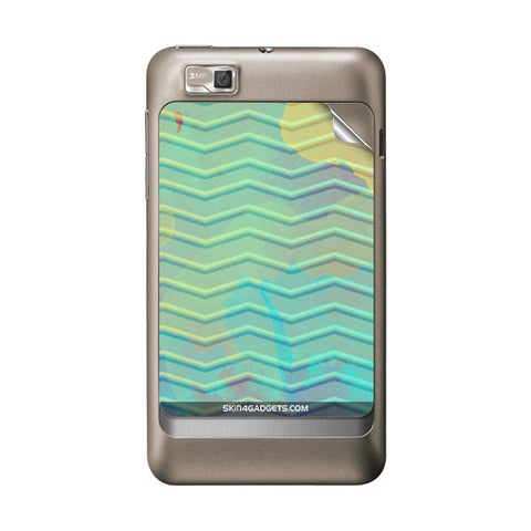 Colourful Waves For MOTOROLA XT390 Skin