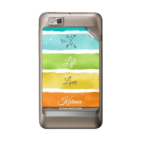 Lets Love Life For MOTOROLA XT390 Skin