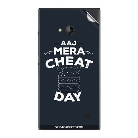 Aaj Mera Cheat Day For NOKIA LUMIA 730  (ONLY BACK) Skin