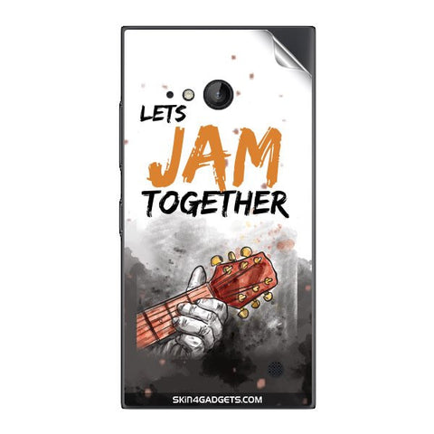 Lets Jam Together For NOKIA LUMIA 730  (ONLY BACK) Skin