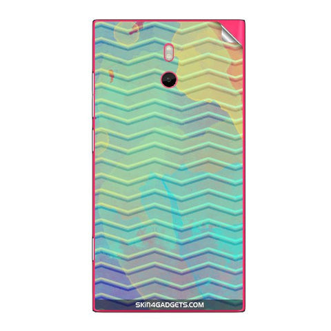 Colourful Waves For NOKIA LUMIA 800 Skin