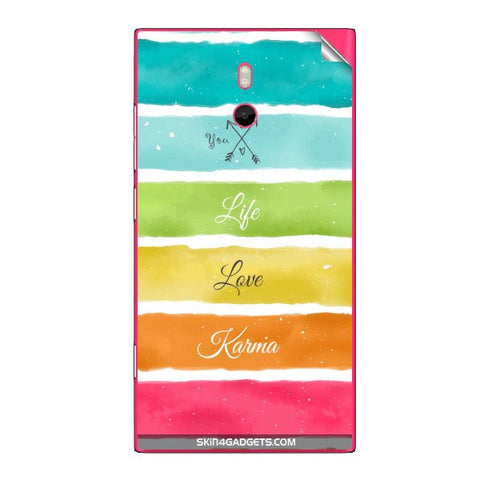 Lets Love Life For NOKIA LUMIA 800 Skin