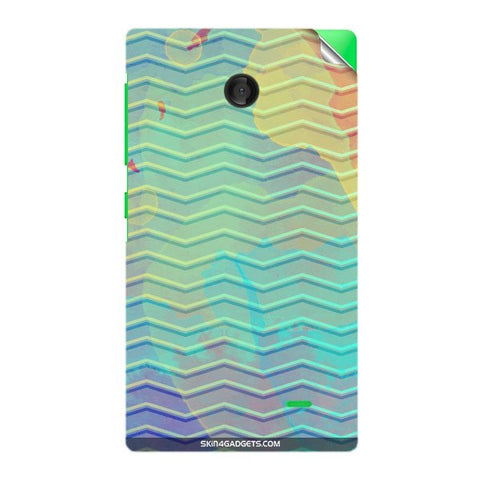 Colourful Waves For NOKIA X Skin