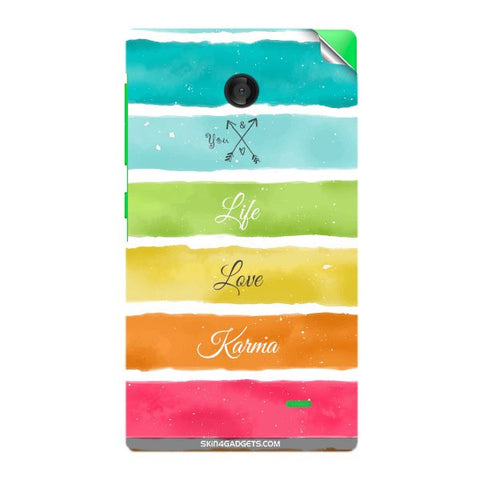 Lets Love Life For NOKIA X Skin