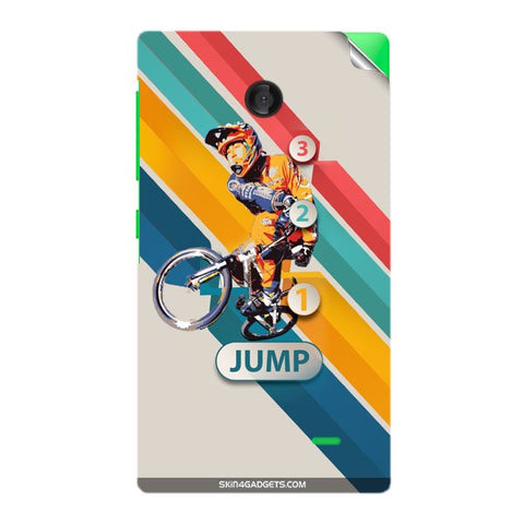 1 2 3 Jump For NOKIA X Skin