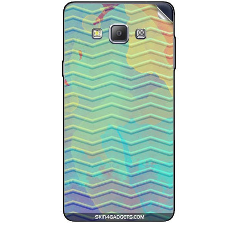 Colourful Waves For SAMSUNG GALAXY A7 (A700) Skin