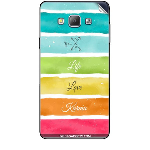 Lets Love Life For SAMSUNG GALAXY A7 (A700) Skin