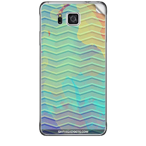 Colourful Waves For SAMSUNG GALAXY ALPHA (G850) Skin