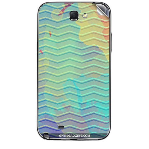 Colourful Waves For SAMSUNG GALAXY NOTE 2 (N7100) Skin