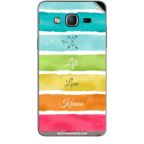 Lets Love Life For SAMSUNG GALAXY ON7 Skin