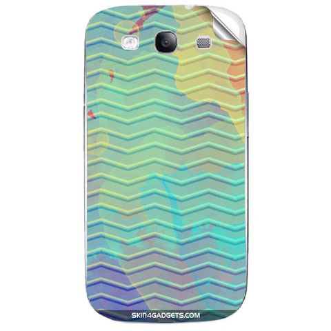 Colourful Waves For SAMSUNG GALAXY S3 (I9300) Skin
